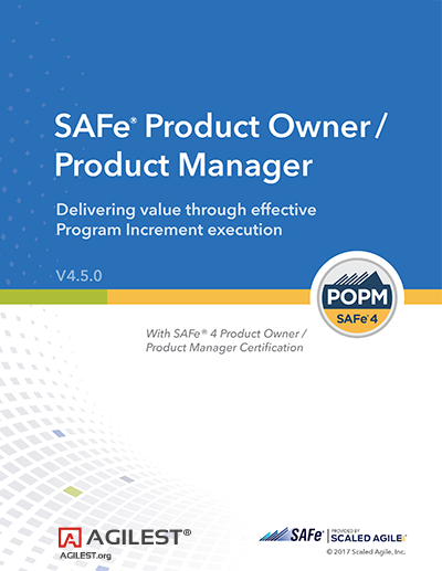 Scaled Agile Product Owner Product Manager Certification